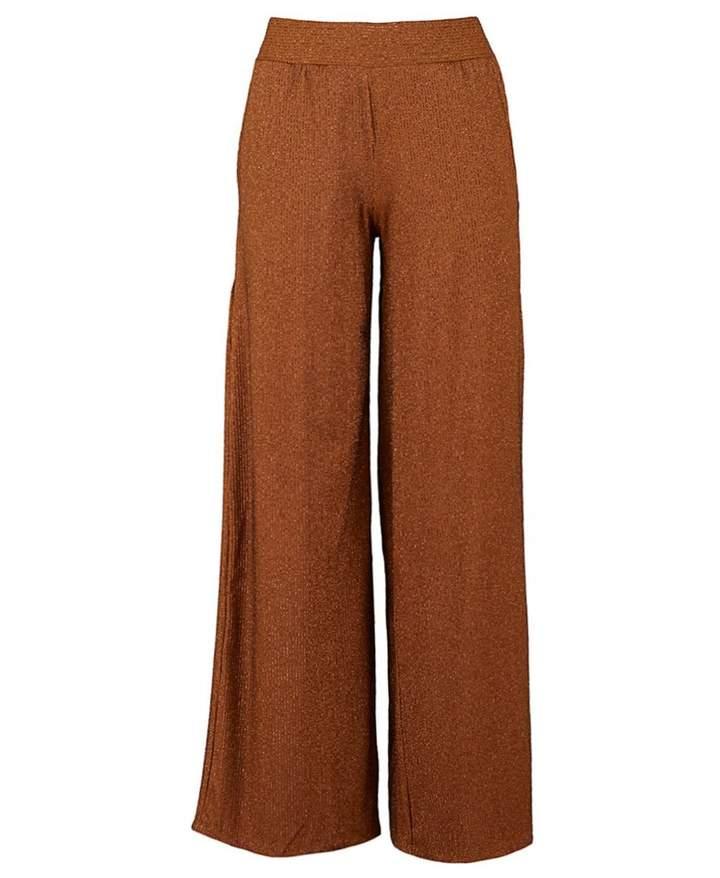 Metallic Striped Jersey Trousers