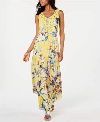 3ab1df7cc7a8 MSK Floral Embellished Chiffon Maxi Gown