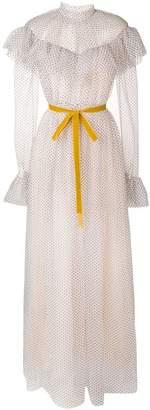 Erdem long polka dot dress
