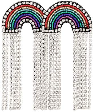 Venessa Arizaga multicoloured Rainbow crystal and rhinestone earrings