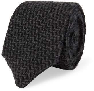 Ralph Lauren Zigzag Knit Cashmere Tie