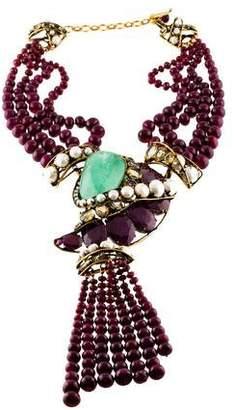 Iradj Moini Pearl & Multistone Collar Necklace