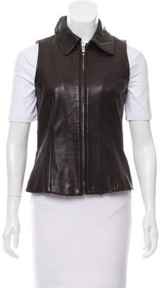 Andrew Marc Tailored Leather Vest