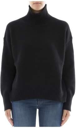 360 Sweater Black Cachemire Turtleneck