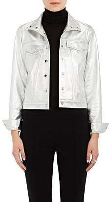 Lisa Perry Women's Snazzy Metallic Leather Jacket - Silver