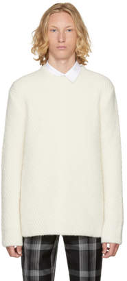 Wooyoungmi Ivory Diagonal Knit Sweater