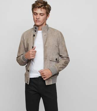 Reiss Connor Suede Button Jacket
