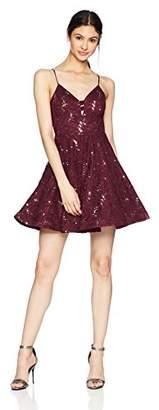 Speechless Junior's Allover Sequin Lace Dress (Junior's)