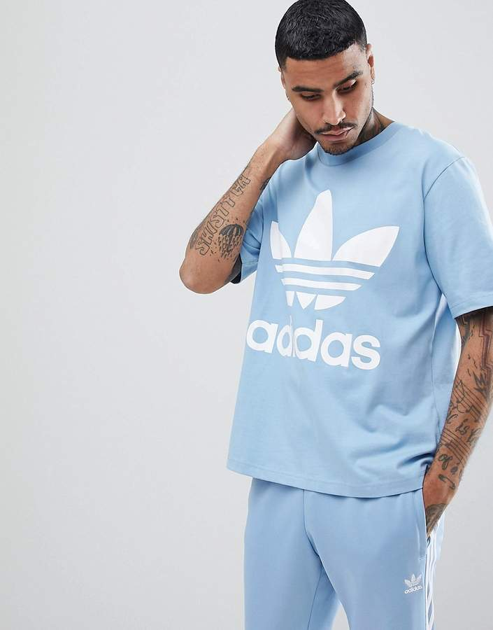 adidas Originals adicolor Oversized T-Shirt In Boxy Fit In Blue CW1214
