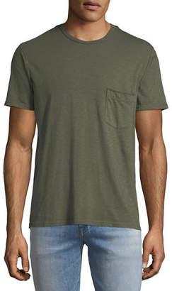 7 For All Mankind Men's Raw-Pocket Crewneck T-Shirt