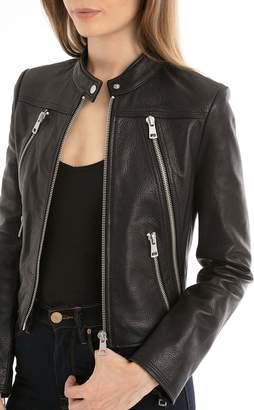 Bagatelle Women's Textured Leather Moto Jacket