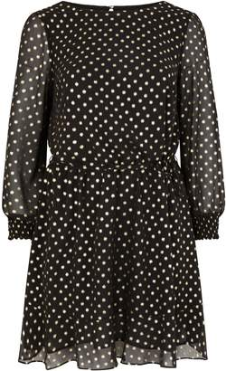 Next Womens Oasis Black Curve Spot Chiffon Dress