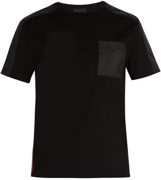 Prada Shell panel stretch-cotton T-shirt