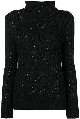 Ermanno Scervino crystal embellished sweater