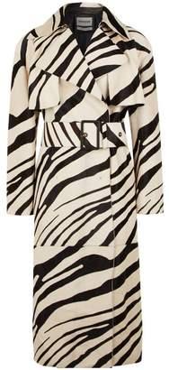 Roberto Cavalli Haircalf Macro Zebra Trench Coat