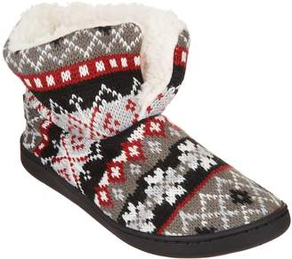 Muk Luks Surplice Slipper Booties