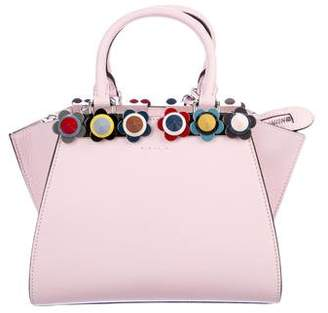 Fendi Leather Micro Flower 3 Jours Satchel