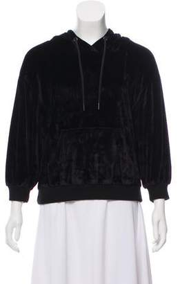 Alice + Olivia Velvet Hooded Sweatshirt