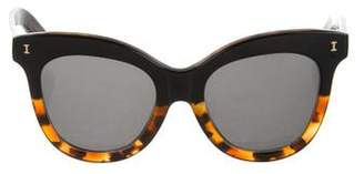 Illesteva Holly Oversize Cat-Eye Sunglasses