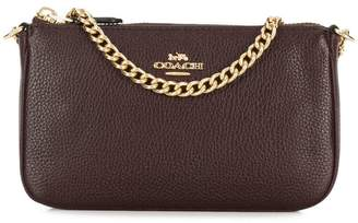 Coach chain-embellished clutch
