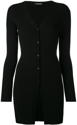 Twin-Set long ribbed cardigan $183.99 thestylecure.com