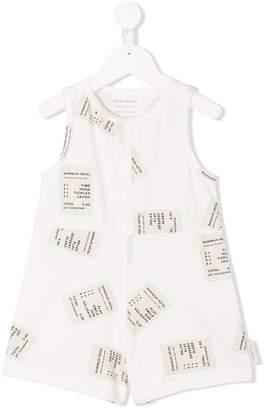 Tiny Cottons receipt print jumpsuit