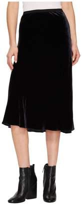 Vince Velvet Elastic Waist Slip Skirt Women's Skirt