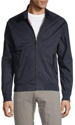 Ben Sherman Stand Collar Full-Zip Cotton Jacket