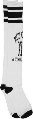 Logo Intarsia Cotton Long Socks $36 thestylecure.com