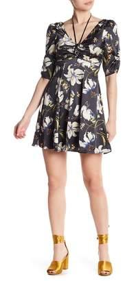 Cinq à Sept Anders Floral Silk Fit & Flare Dress
