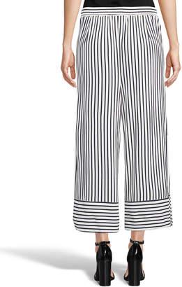 5twelve Striped Wide-Leg Cropped Pants