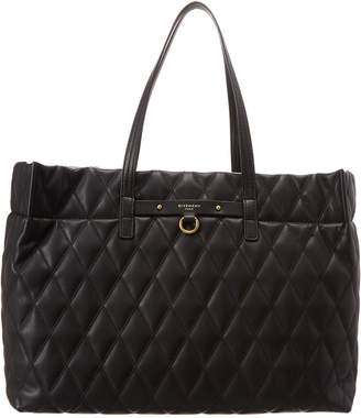 5ed93cc73e Givenchy East West Quilted Rubberized Canvas Tote