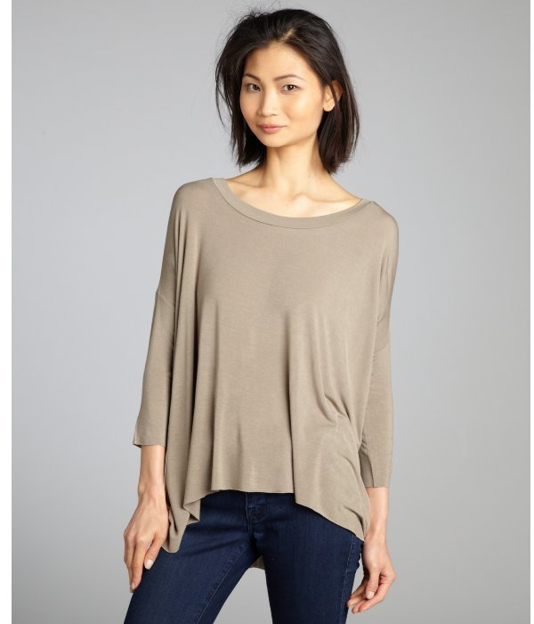 Bailey 44 olive dolman sleeve high low stretch knit slouch top