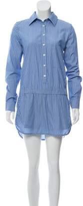 Thakoon Striped Button-Up Romper Dress