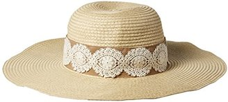 Collection XIIX Women's Laced Band Floppy Hat $32 thestylecure.com