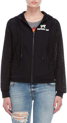 Love Moschino Dress to Impress Eyelet Hoodie