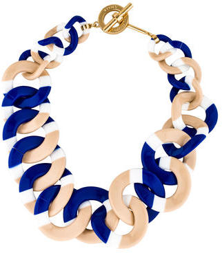 Tory BurchTory Burch Graduated Resin Link Necklace