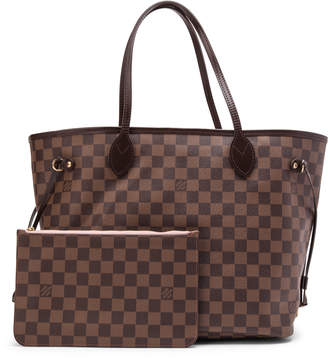 d09967025173 Pre-Owned at StockX · Louis Vuitton Neverfull NM Damier Ebene MM (With  Pouch) Brown Pink