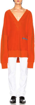 Calvin Klein Logo Knit Pullover in Orange Red | FWRD