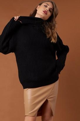 Na Kd Trend Big Chunky Knitted Sweater Black