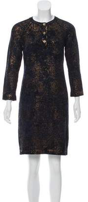 Chanel Paris-Byzance Metallic Knit Dress