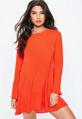 Missguided Red Floaty Gypsy Swing Dress