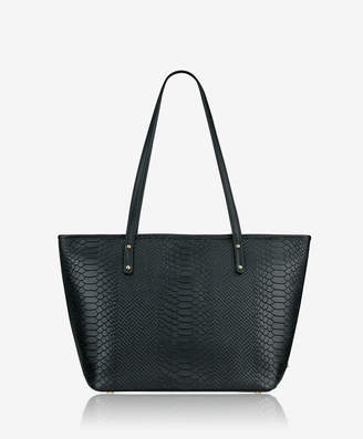GiGi New York Zip Taylor Tote, Black Embossed Python