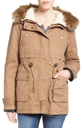 Junior Women's Thread & Supply 'Ranger' Parka With Faux Fur Trim $89 thestylecure.com