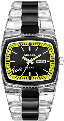 Diesel Men's 40th Anniversary 2005 Transparent Nylon Bracelet Watch 46x43mm, Limited Edition