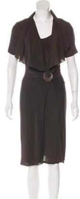 Max Mara Short Sleeve Midi Dress Short Sleeve Midi Dress