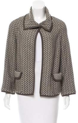 Rena Lange Patterned Open-Front Jacket