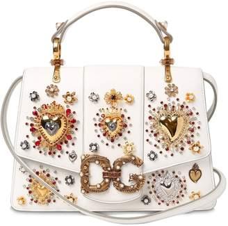 Dolce & Gabbana Regular Amore Embroidered Leather Bag