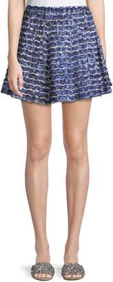 Proenza Schouler Fil Coupe Ruffle Mini Skirt