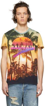 Balmain Multicolor Beach Club Logo T-Shirt